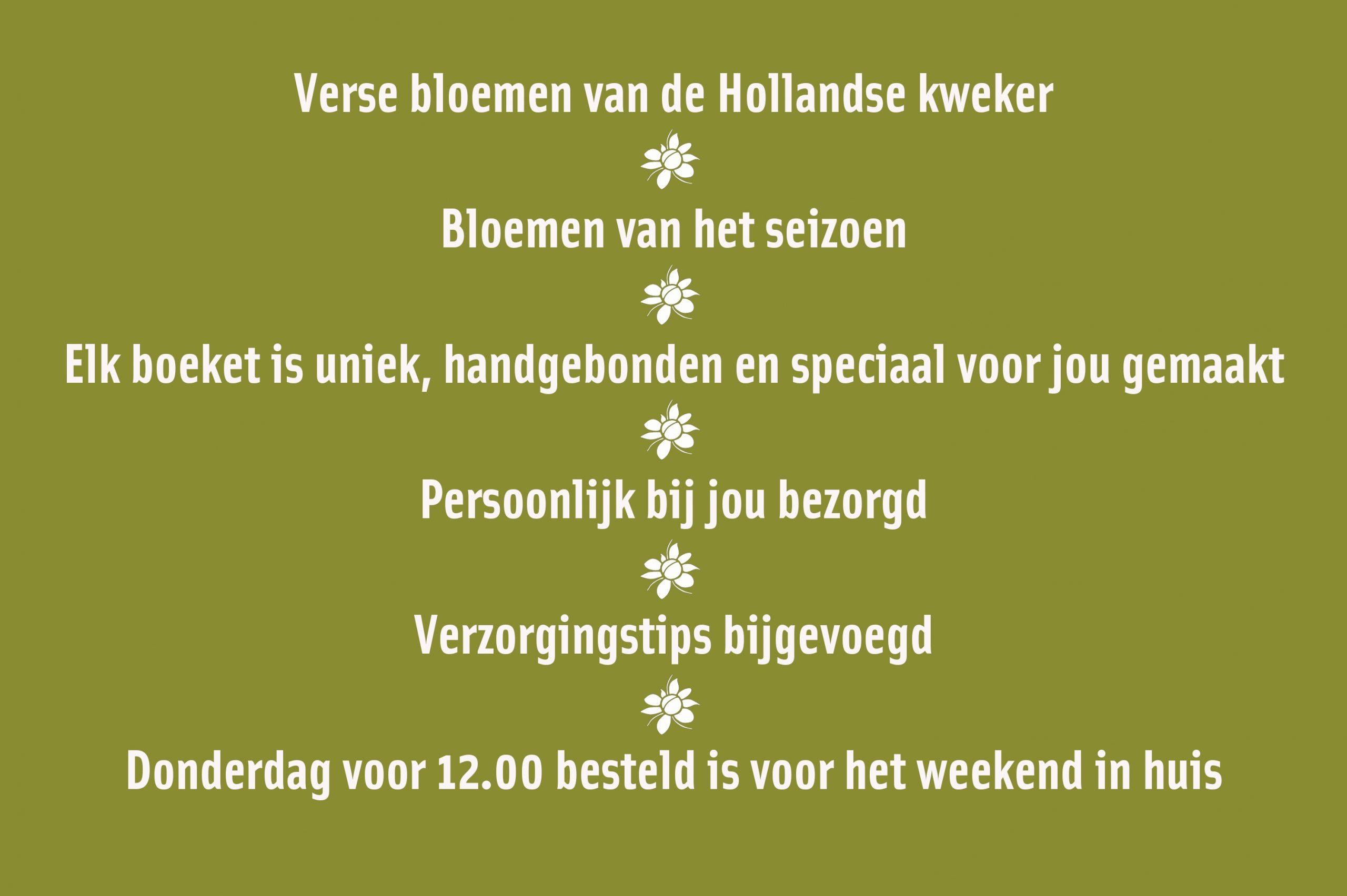 Verse bloemen uit Delft online bestellen